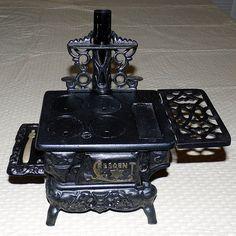 Vintage Crescent Toy Cast Iron Stove
