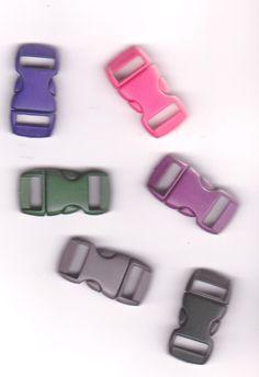 Schnallen & Schließen - 4 Steckschnallen/Steckschließen ca. 10 mm - ein Designerstück von happy-hobby bei DaWanda