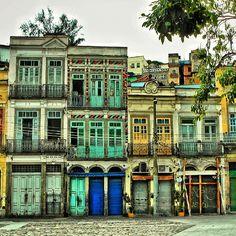 Rio Antigo - sobrados na Zona Portuária -  Rio de Janeiro - Brasil