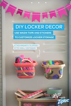 locker containers and then you add a blossom magnet for you kids to tuck a…