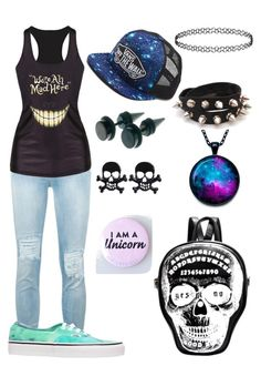"""""""Emo I guess"""" by rainbowsandthenme on Polyvore featuring 7 For All Mankind, Chicnova Fashion, Vans, women's clothing, women's fashion, women, female, woman, misses and juniors"""