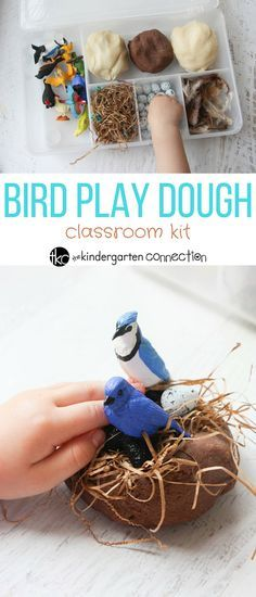This bird themed play dough kit is perfect for spring, fall, or anytime! This se… This bird themed play dough kit is perfect for spring, fall, or anytime! This sensory filled fun is great for hands on learning and play. Play Doh Kits, Diy Play Doh, Play Dough, Spring Activities, Toddler Activities, Vogel Clipart, Playdough Activities, Bird Theme, Sensory Play