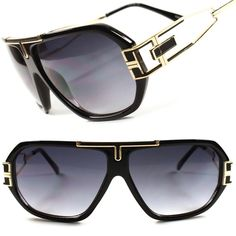 977fad039196 Gold Arm Hot Party Hip Hop DJ Mens Womens Vintage Retro Aviator Sunglasses  C34A  KISS  Aviator