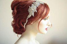 Wedding hair piece vintage inspired  Roza by EnrichbyMillie, $105.00