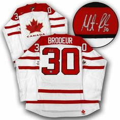 MARTIN BRODEUR Team Canada SIGNED 2010 Olympic Hockey JERSEY . $540.55. This is an official licensed SIGNED Martin Brodeur Olympic Team Canada jersey. The jersey is brand new with all of the lettering and numbering professionally sewn on. The player has beautifully signed the number. To protect your investment, a Certificate Of Authenticity and tamper evident hologram from A.J. Sports World is included with your purchase.