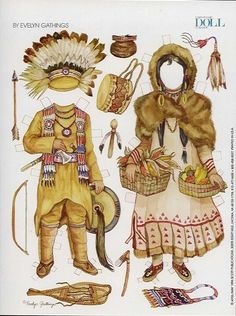 Evelyn Gathings, Early Northeastern Indians 2//Paper dolls for the grandchildren--their mother always liked paper dolls--as did their grandmother--so.
