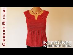 Crochet blouse - red sage stitch summer top crochet pattern - YouTube
