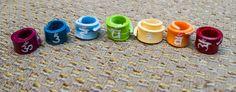 7 Chakra Dread Beads by MordKraft on Etsy, $4.50