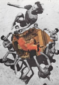 "Saatchi Art Artist Deborah Stevenson; Collage, ""You Go Girl"" #art"