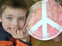 Cool project from http://www.kiwicrate.com/projects/Paper-Plate-Peace-Sign/1543: Paper Plate Peace Sign