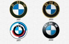 Evolution of BMW logo. #design