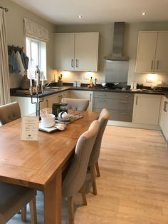 Stylish kitchen in a Redrow Home #newhome #perfectnewhome #kitchen #diningtable #newkitchen #modern #interiordesign #redrowhomes #homeaccessories