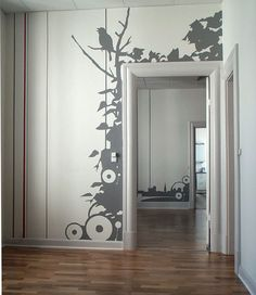 Sillhouette wall accent- this would be so much fun to make!