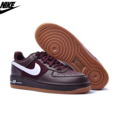 watch 2a93b ef192 Mens Nike Air Force One Low 07 LE Shoes Deep Burgundy Gum 315122-610,