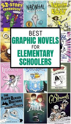 "If you've written off graphic novels for kids as not ""real"" reading, take a peek at these titles that have massive kid appeal and help even reluctant readers want to crack open a book. These 13 best graphic novels for kids are sure to be a hit! Elementary Library, Elementary Schools, Reluctant Readers, Early Readers, Kids Reading, Reading Lists, Reading Books, Reading Centers, Book Suggestions"