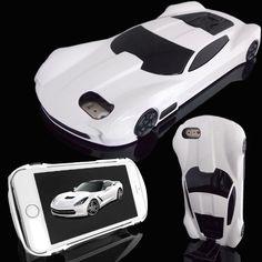 Estuche Carro De Carrera Americano Blanco Para Apple iPhone 7 Caja Funda Fuerte  #UnbrandedGeneric