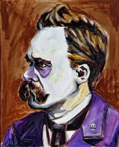 Frederick Nietzsche,  Dia de Los Muertos by Jennifer Cahoon