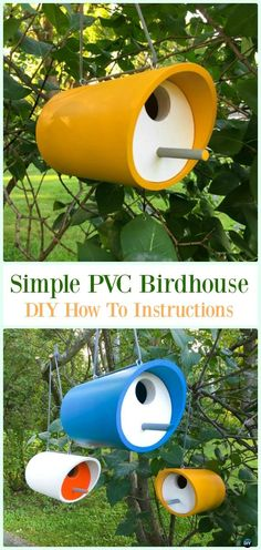 Simple PVC Birdhouse DIY Instructions - Low Budget DIY PVC Garden Projects