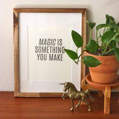magic letterpress print 8x10