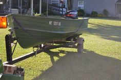 For Sale Aluminum boat  , with 2004 25HP  Mercury  manual start outboard moter,   less than 6 gallon run through   it,  completely rebuilt trailer , tires, wheels, non marring rollers, skid supports, Over $2000 invested in it! $1,500 USD
