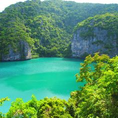 Green Lagoon - Anthong National Marine Park Thailand .. I took this one with Mum's great camera