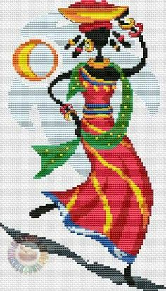 Negra Cross Stitch Art, Cross Stitch Designs, Cross Stitching, Cross Stitch Embroidery, Cross Stitch Patterns, Cross Stitch Pictures, African Design, Brick Stitch, Loom Beading