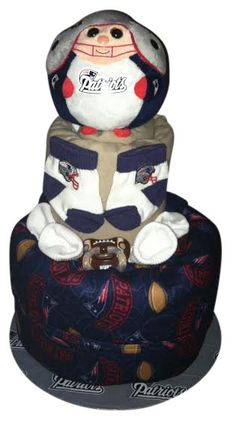 New England Patriots Diaper Cake NFL boy or girl by CurlyGirlCakes, $75.00