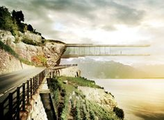 Mauro Turin Creates Cliffhanging Wine Museum in Switzerland (on Architizer) Turin, A As Architecture, Futuristic Architecture, Travel And Leisure, Planer, Beautiful Places, Amazing Places, Around The Worlds, Exterior