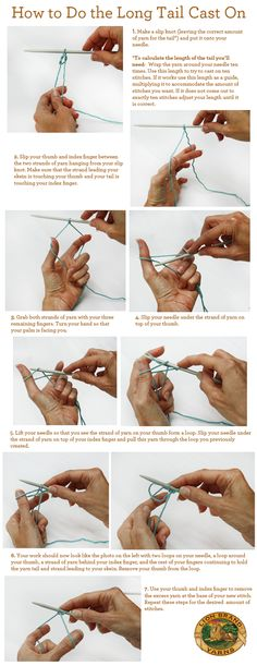 how to do a long tail cast on