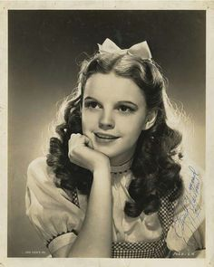 Autographed picture of Judy Garland, as Dorothy of the Wizard of Oz