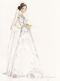 Local Bridal Guide: 5 Philly-Area Illustrators Who Can Do a Sketch of You in Your Wedding Gown - Philadelphia Wedding Wedding Vendors, Wedding Gowns, Weddings, Wedding Illustration, Bridal Suite, Philadelphia Wedding, Bride Look, Fashion Sketches, Wedding Colors
