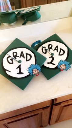 Graduation cap for twins!