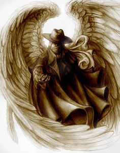 This is a drawing of the Phantom of the Opera, if he really was an angel of music. Okay... so Erik was Always my angel of music, but this is supposed to be postmortem... ***like what you see? It's ...