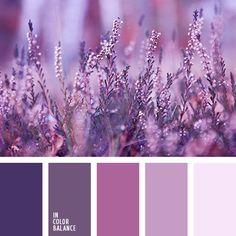 monochrome violet colour palette palettes with color ideas for decoration your house, wedding, hair or even nails. Purple Color Palettes, Colour Pallette, Lilac Color, Colour Schemes, Color Combinations, Purple Palette, Purple Colors, Color Lila, Bright Colors