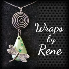 Silver/Pewter Dragonfly by WrapsbyRene on Etsy