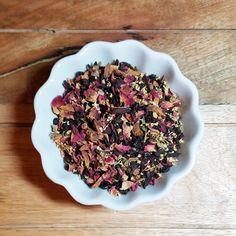 Immune Support Floral Tea Blend-Organic-Elderberries, Hibiscus Flowers, Rosehips, Red Rose Petals, and Elder Flowers-Typhoid Mary- 3oz Bag