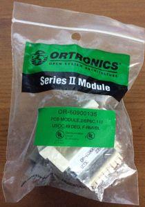 Ortronics Series II OR-60900135 PCB Module 2/6P6C 110 USOC, 49 DEG, F-RMVBL