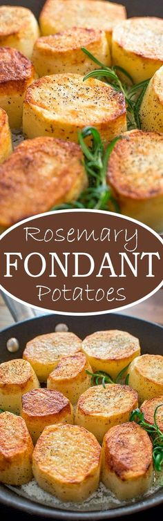 Crispy on the outside, tender and creamy on the inside, cooked with butter and a hint of garlic, these Rosemary Fondant Potatoes make simple yet elegant side dish! ❤️ http://COOKTORIA.COM