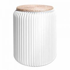 Tabouret pliable 42 cm blanc