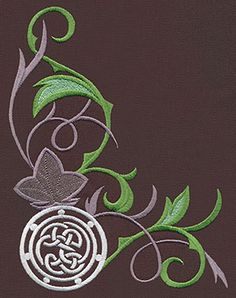 Elven Court Knotwork Corner | Urban Threads: Unique and Awesome Embroidery Designs