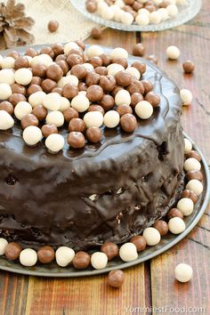 Chocolate Layer Cake with Cream Cheese Filling - Recipe from Yummiest Food Cookbook