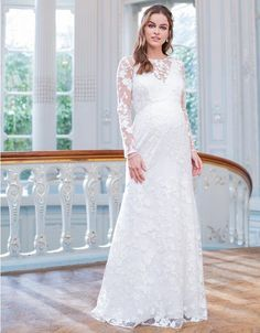 Maternity Dresses For Baby Shower, Maternity Gowns, Maxi Gowns, Pregnancy Dress, Wedding Dress Types, Long Wedding Dresses, Wedding Suits, Wedding Gowns, Ivory Lace Top