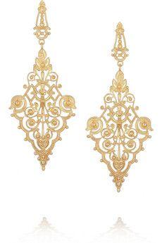 IAM by Ileana Makri Chantilly gold-plated earrings | NET-A-PORTER