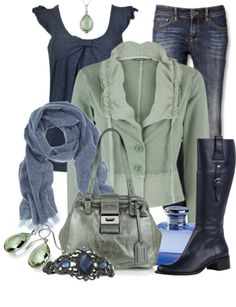 """Green & Blue"" by stylesbyjoey on Polyvore"