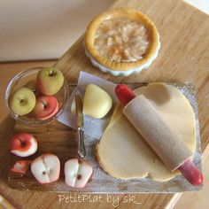 Miniature Food Apple Pie Prep Board by PetitPlat - Stephanie Kilgast, via Flickr