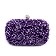 $27.13 (Buy here: https://alitems.com/g/1e8d114494ebda23ff8b16525dc3e8/?i=5&ulp=https%3A%2F%2Fwww.aliexpress.com%2Fitem%2FNew-2016-Purple-Pearl-Evening-Bags-Blue-Black-Beaded-Clutch-Bag-Wedding-Bridal-Clutches-Party-Dinner%2F32679919274.html ) New 2016 Purple Pearl Evening Bags Blue Black Beaded Clutch Bag Wedding Bridal Clutches Party Dinner Purse Chains Handbag XA501H for just $27.13