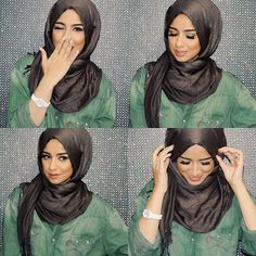 Today we will look at tutorial hijab pesta simple styles and show you cara memakai jilbab in this style. The simple pesta style is very modern and there are Turban Hijab, Hijab Wear, Hijab Outfit, Hajib Fashion, Modest Fashion, Fashion Outfits, Turbans, Tutorial Hijab Pesta, Muslim Women Fashion