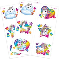 Lisa Frank Rainbow Horse Tattoos 2 Sheets - Party City