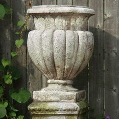 Weave Top Urn 21in. High - Fiberglass - Indoor/Outdoor Garden Statue