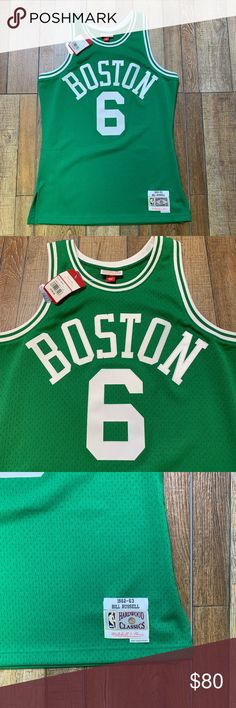 NWT Boston Celtics Bill Russell Vintage NBA Jersey Brand New with Tags    Perfect Condition Bill Russell Boston Celtics Official Mitchell   Ness  Swingman ... 5290650dd